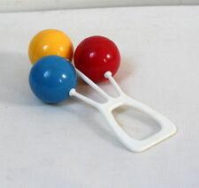 Hochet vintage 3 boules colorées