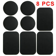Car Mount Magnetic Cell Phone Holder Replacement Adhesive Metal Plate - 8 PCS