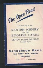 See Scottish Scenery & the English Lakes 1924 Sanderson Bros booklet