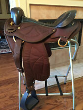 "16"" TN Saddlery Quilted Gaited Western Saddle  Brown"
