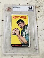 🔥 1965 Topps Football Joe Namath BVG 5.5 ROOKIE RC #122 HOF High Grade 🔥