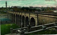 Vintage Postcard - Posted 1911 High Bridge Aerial View New York City NY #4565