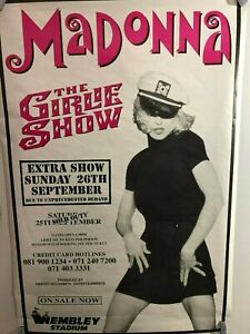 HUGE SUBWAY POSTER Madonna Girlie Show 1993 Tour Promo poster  Erotica Album