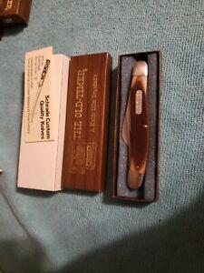 Vintage Old Timer 610T Schrade 3 Blade Pocket Knife Mint NOS BOX