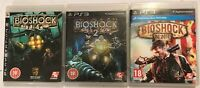 3 PLAYSTATION 3 PS3 GAMES BIOSHOCK 1 2 +INFINITE +BOXs INSTRUCTIONS COMPLETE PAL