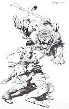 BANTH Frank Frazetta Vintage Art 1972 GGA Tiger Lion Tarzan Sword Gypsy Mars
