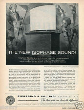 1956 Print Ad of Pickering & Co Isophase Sound Speakers Oceanside NY