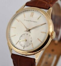HANDSOME VINTAGE GIRARD PERREGAUX IN 18K SOLID ROSE GOLD MANUAL WIND GENTS WATCH