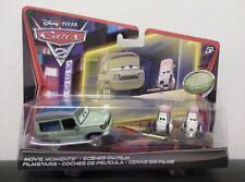 Disney Pixar Cars 2 Miles Axlerod & Tokyo Party Staff  2-Pack