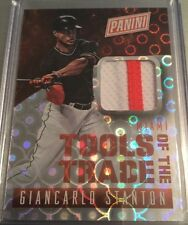 2015 Panini National Tools Of The Trade Lava Flow Jersey Giancarlo Stanton