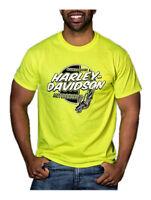 Harley-Davidson Men's Ignite Chest Pocket Short Sleeve T-Shirt, Safety Green