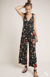 NWT Anthropologie Agua Bendita Ellie Floral Jumpsuit Size Large