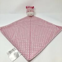 Child of Mine Pink Lovey Giraffe rattle Polka Dot security Blanket Girls Carters