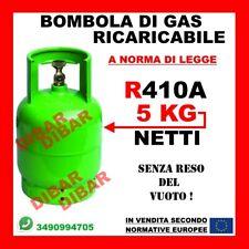 GAS R410A BOMBOLA 5KG NETTI PROMO APPLICAZIONI DAIKIN HAIER HISENSE TOSHIBA ECC