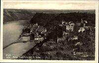 St. GOAR AK Luftbild Fliegeraufnahme Rhein Rheinfels Gesamtansicht um 1930