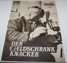 Progress Filmprogramm 14/65- DER GELDSCHRANKKNACKER - Charlie Drake - 1963 (DDR)