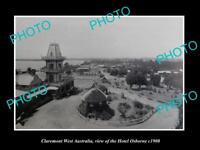 OLD LARGE HISTORIC PHOTO OF CLAREMONT WEST AUSTRALIA, THE HOTEL OSBORNE c1900