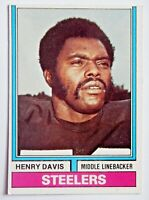 Henry Davis #521 Topps 1974 Football Card (Pittsburgh Steelers) VG