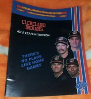 1989 CLEVELAND INDIANS PROGRAM CACTUS LEAGUE SPRING TRAINING UNSCORED 43 YEARS