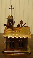 Vintage SANKYO Japan Copper Tin Metal Church Music Box, Works Sound is Very Low