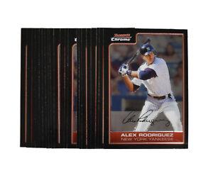 (20) Card Lot 2006 Bowman Chrome Alex Rodriguez #100 HOF NrMt/Mt
