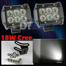 "2X Fog Light 4"" CREE LED 18W Spot Motorcycle Work ATV Off-Road Jeep+Switch Relay"