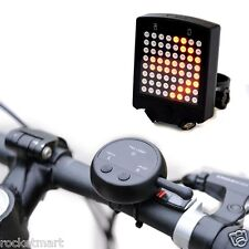 Cycle Warning Tail Light Laser LED Bike Remote Light Arow Indication Waterproof