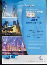 BANGKOK AIRWAYS AIRBUS A319 DIRECT FLIGHTS FROM SAMUI TO PHUKET-KRABI-AD