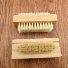 Wooden Double Sided Finger Nail Brush Cleaner NEW