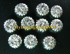 100 Pcs Tibetan Silver ornate flower disc beads FC264