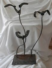 """""""Lucky Bloom"""" Steel Floral Sculpture- Made out of horse shoes"""