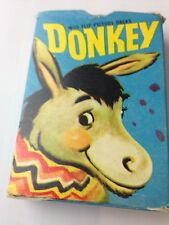 Vintage Donkey Card Game. Tower Press No 5733. Flip Picture Backs