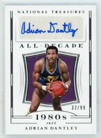 2018-19 Adrian Dantley /99 Auto Panini National Treasures All-Decade Autographs