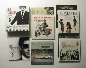 *PHIL SPECTOR 7-CD ALBUM COLLECTION BOX SET w/ BOOK – RONETTES – CRYSTALS*