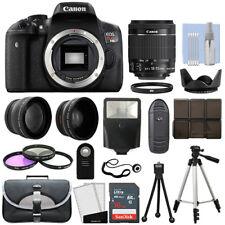 Canon EOS Rebel T6I 750D Body + 3 Lens Kit 18-55mm IS STM + 16GB + Flash & More