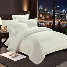 Plain Duvet Quilt Cover with Pillow Case Bedding Set Single Double King Size