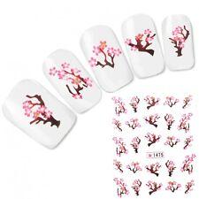 Tattoo Nail Art Aufkleber Kirschblüten Glitzer Japan Orchidee Nagel Sticker Neu!