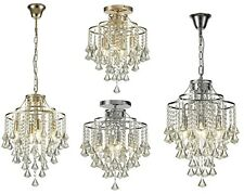 Crystal Chandeliers French Gold Polished Chrome Traditional Hanging Pendants