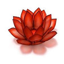 Capiz Shell Red Horizon Lotus Flower Holder free tea light candle OM Gallery
