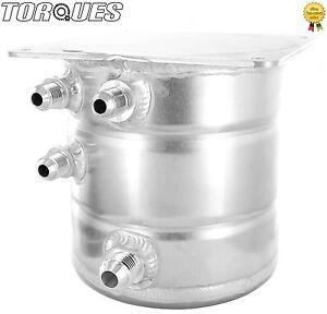 AN-6 /AN-8 JIC 1.5 Litre Aluminium Top Mounted Front Inlet/Outet Fuel Swirl Pot