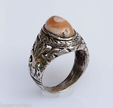 antik orient silberring augen achat  Afghanistan  silver agate ring Nr:25