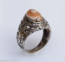 antik orient silberring augen achat  Afghanistan persien silver agate ring Nr:25