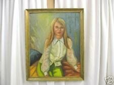 Nice Framed Oil Painting Of Teenage Girl By A. Jeffries