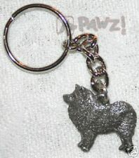 Samoyed Dog Fine Pewter Keychain Key Chain Ring New