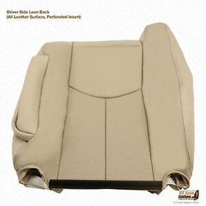 2003-2006 Cadillac Escalade Driver Lean Back Leather Seat Cover Color Tan