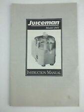 Juiceman JM1 Instructional Manual