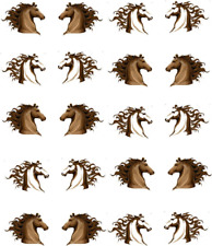Horse heads Waterslide Nail Decals/Nail art