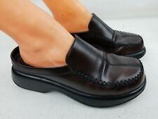 Dansko Womens Brown Leather Comfort Slip-On Clogs Shoes SZ 40 US 10