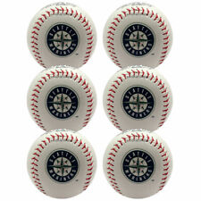 (6) Rawlings Seattle Mariners Team Logo Manfred MLB Baseball Autograph