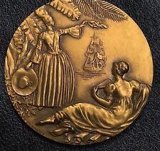 1952 French Medal for the Antilles Compagnie Generale Transatlantique 55 mm N135